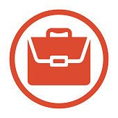 Briefcase, suitcase, business portfolio, bag icon. Use for commercial, print media, web or any type of design projects.