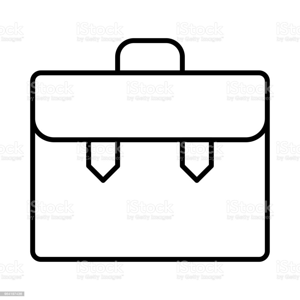 briefcase vector art illustration