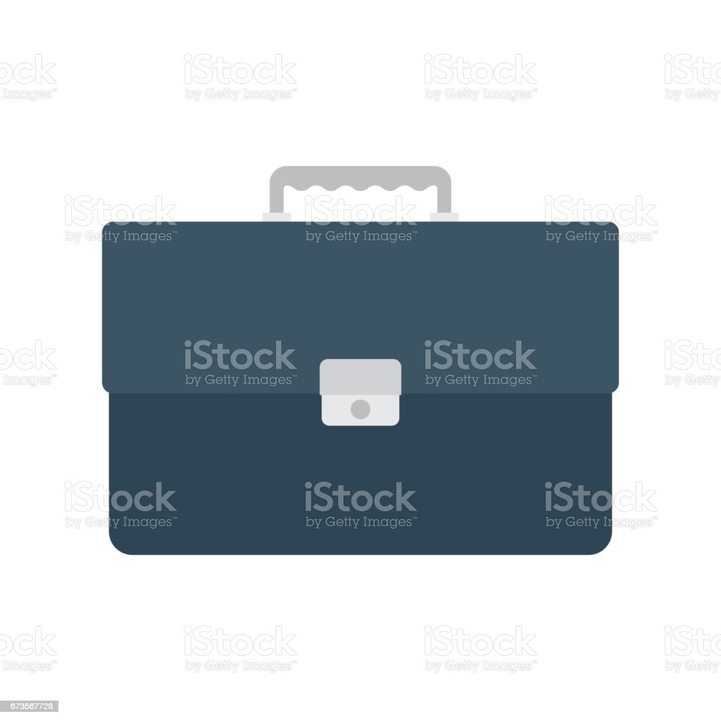 briefcase with lock vector art illustration