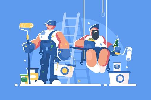 Painter stock illustrations