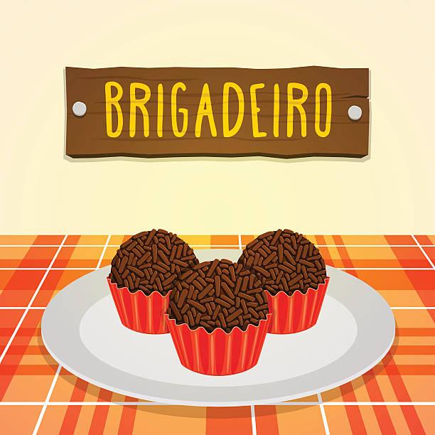 ilustrações, clipart, desenhos animados e ícones de brigadeiro-brazilian-doce - brigadeiro