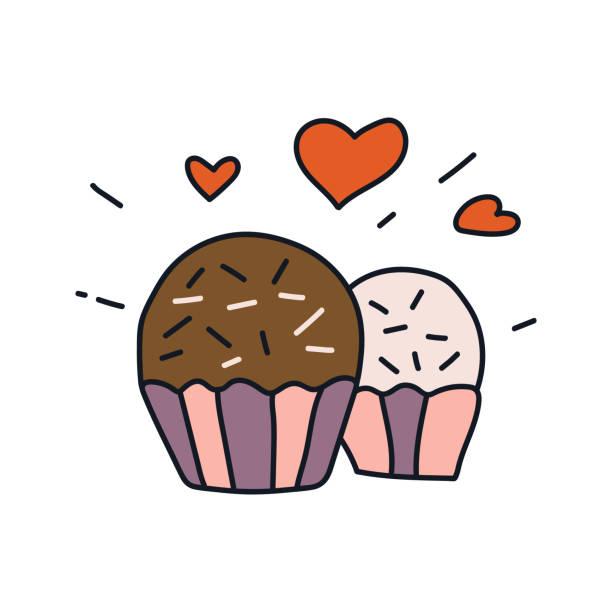 ilustrações, clipart, desenhos animados e ícones de brigadeiro dessert. - brigadeiro