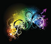 Bright rainbow coloured abstract background vector
