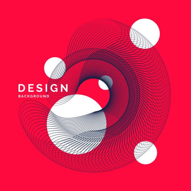 illustrations, cliparts, dessins animés et icônes de fond abstrait clair avec une dynamique des vagues, dans un style minimaliste - infographies médicales