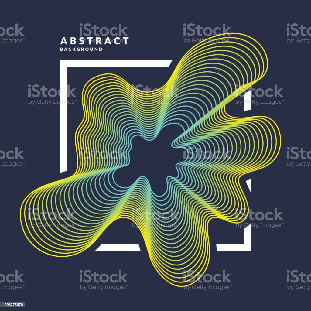 Bright abstract background with a dynamic waves of minimalist style. Vector illustration vector art illustration