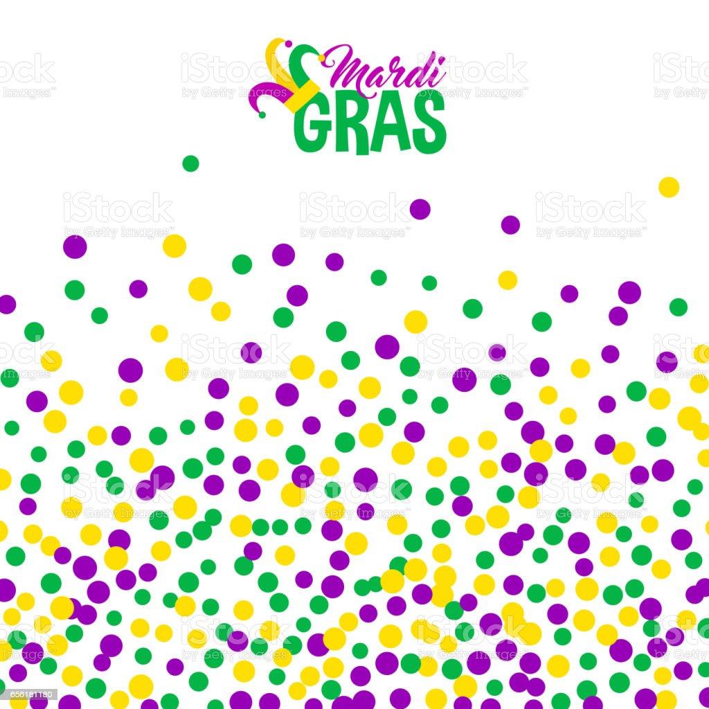 Bright abstract dot mardi gras pattern vector art illustration