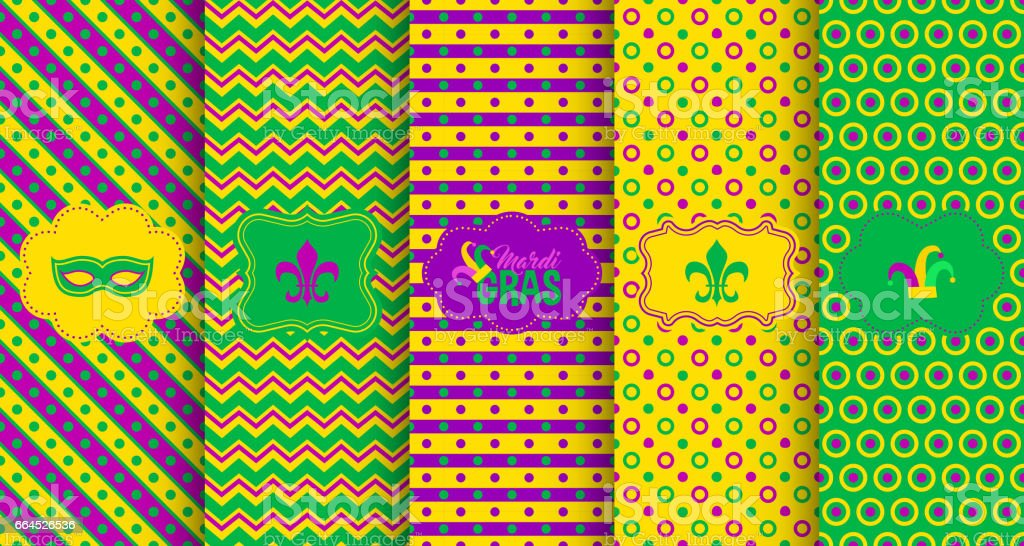 Bright abstract mardi gras pattern set royalty-free bright abstract mardi gras pattern set stock vector art & more images of abstract