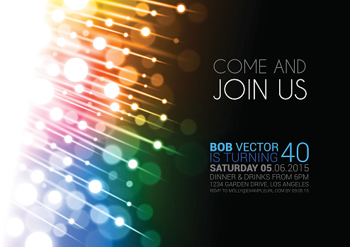 Bright abstract party invitation background
