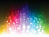 Abstract blurry rainbow colored glowing light background