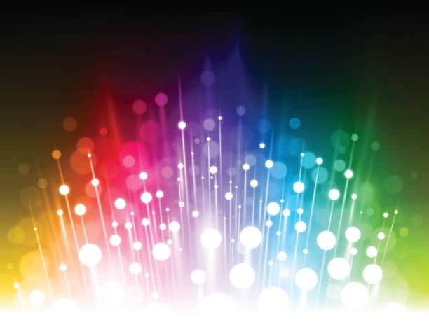Fondo brillante arco iris abstracto - ilustración de arte vectorial