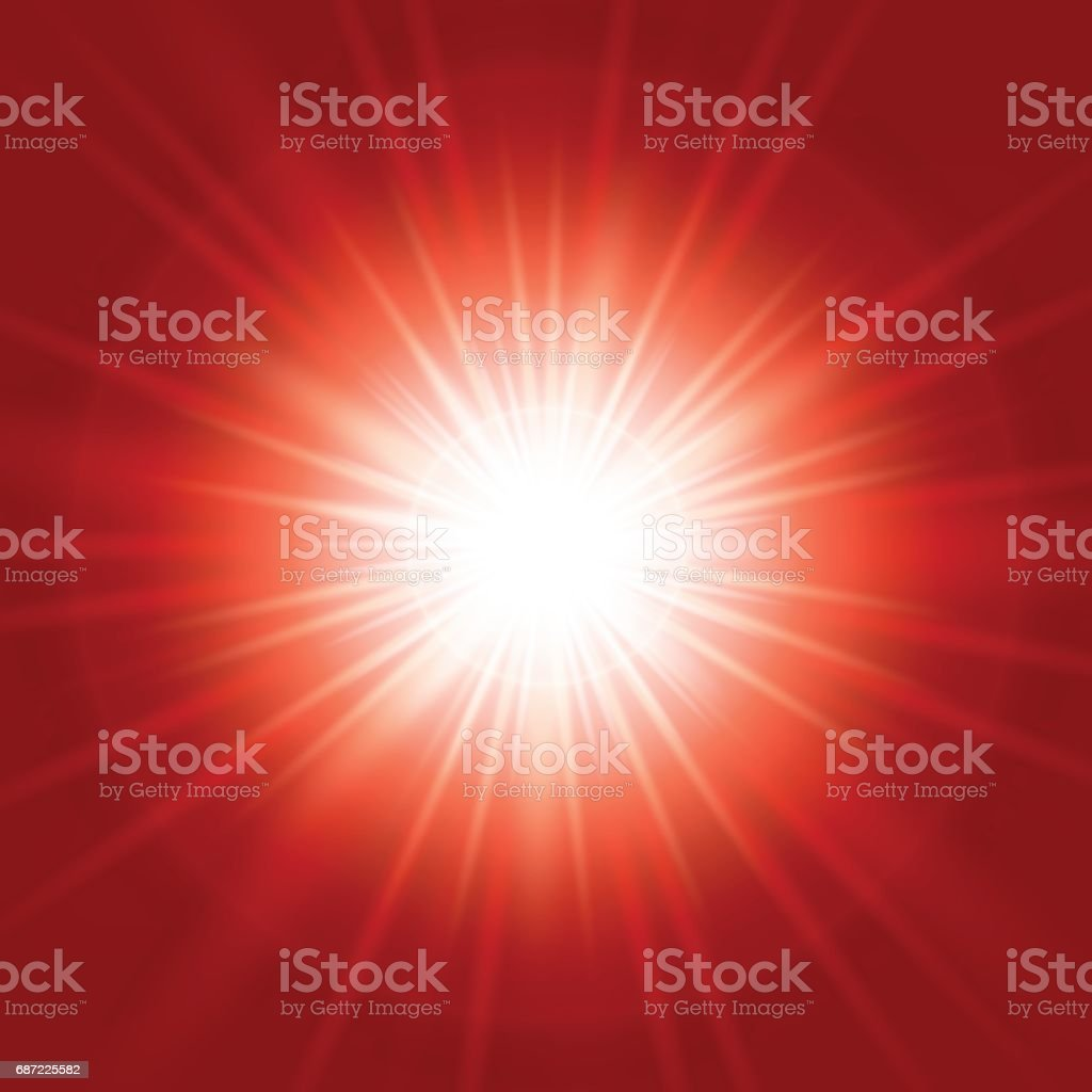 Bright abstract red background vector art illustration