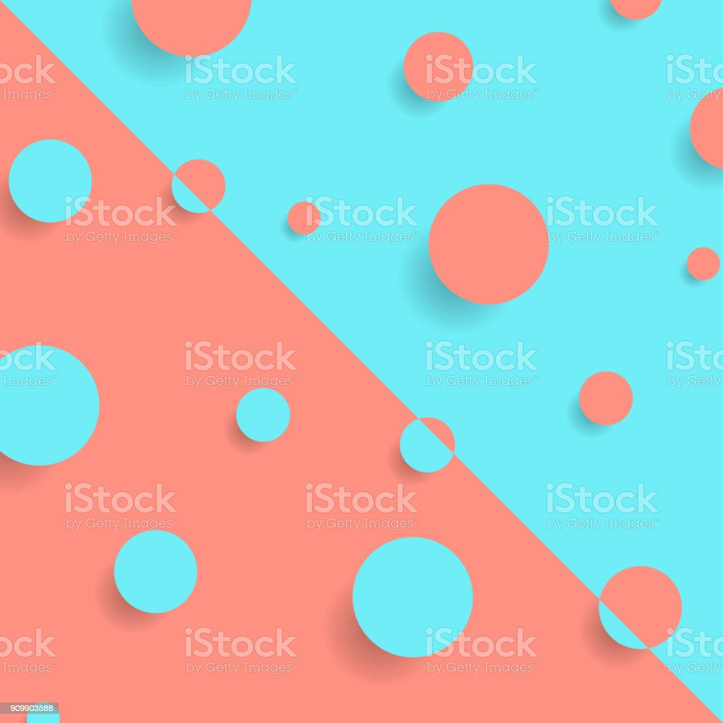 Bright abstract retro minimalism circles background vector art illustration