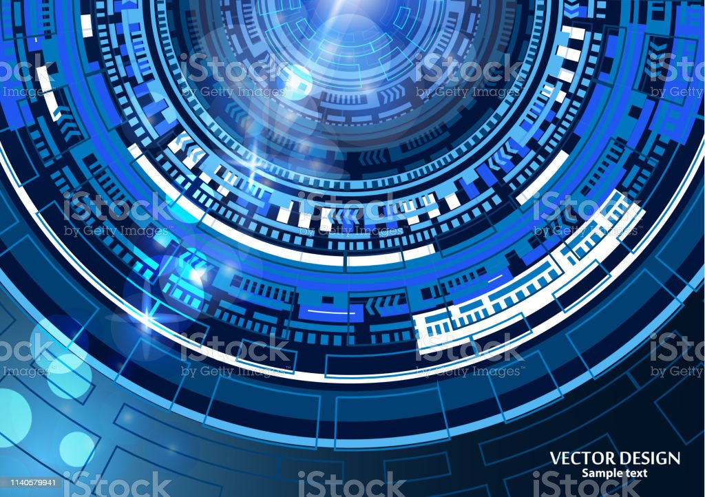 Bright Abstract Technology Background High Tech ...