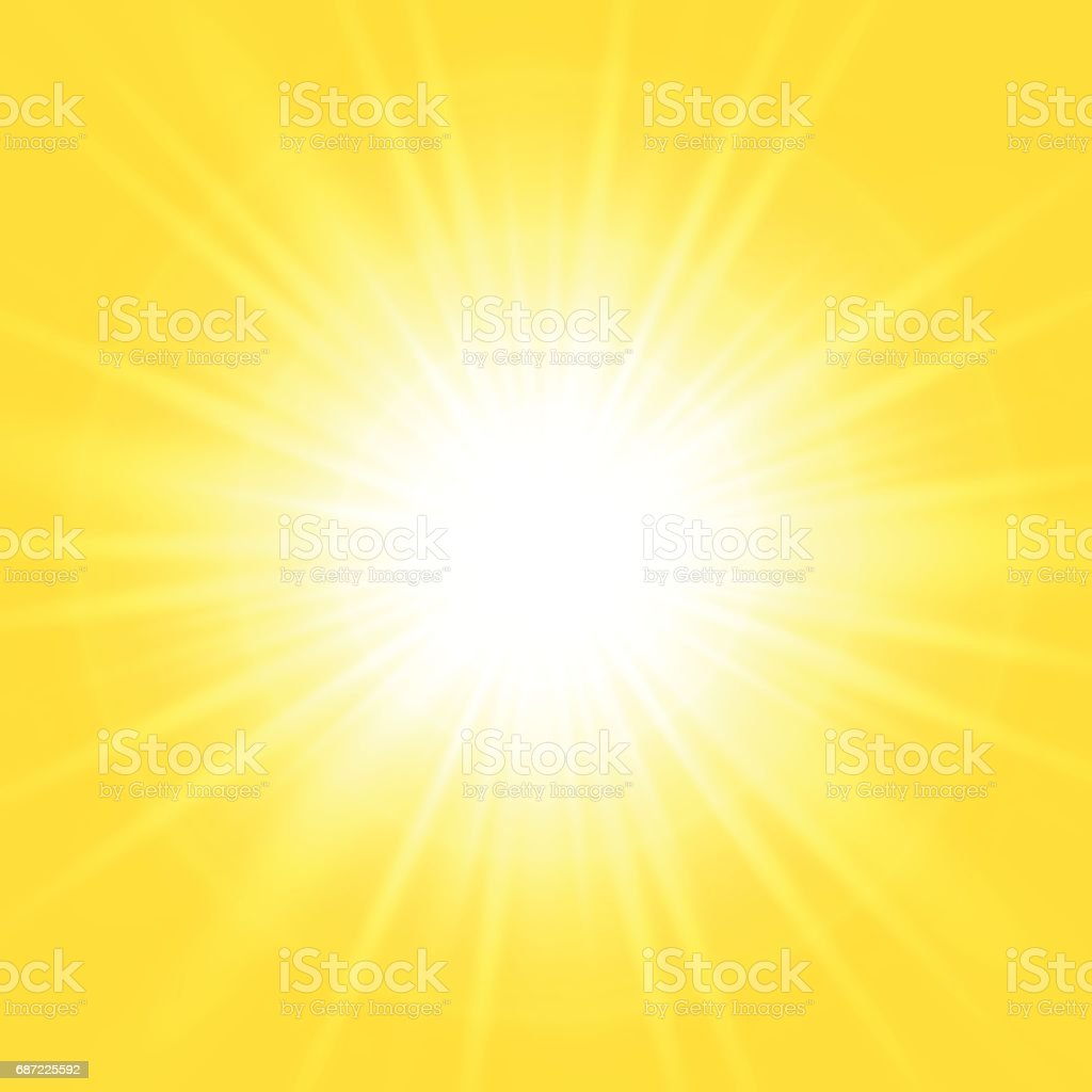 Bright abstract yellow background vector art illustration