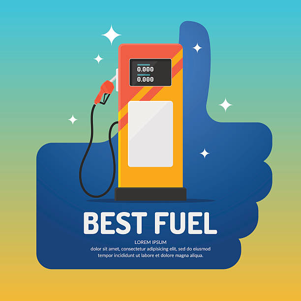 Bright advertising poster on the theme of gas station. Bright advertising poster on the theme of gas station. Vector illustration. station stock illustrations