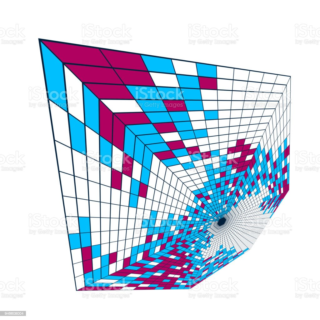 Bright And Beautiful Vector 3d Mosaic Tiles Illustration Artistic ...