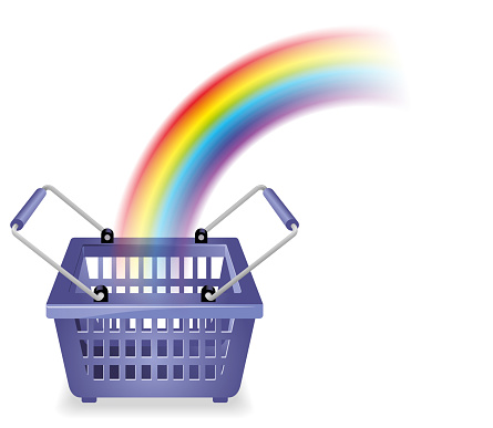 Bright and Happy Shopping Cart