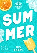 istock Bright and modern Summer party poster. Vector graphics 1316920397