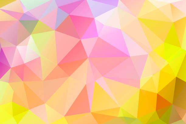黄色、緑、赤の色の三角形の三角形の明るく温かみのある抽象的な背景 - 秋のファッション点のイラスト素材/クリップアート素材/マンガ素材/アイコン素材