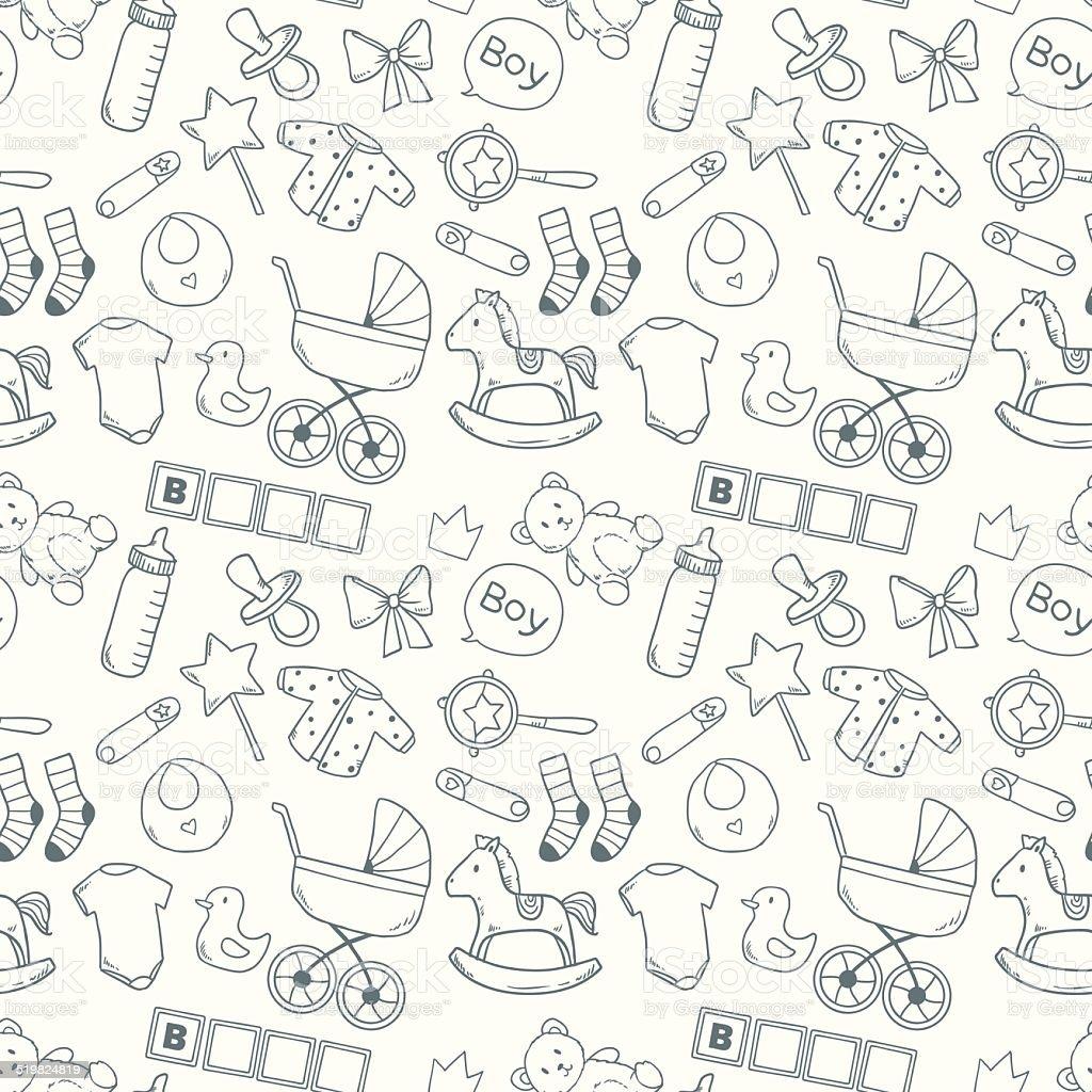 Helle baby Nahtlose Muster – Vektorgrafik