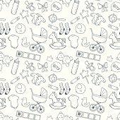Bright baby seamless pattern