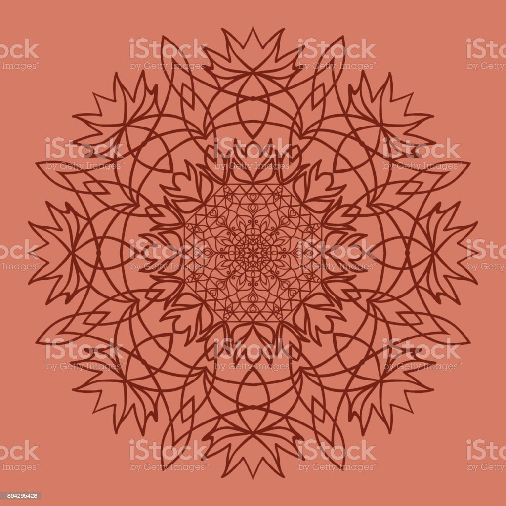 bright background with mandala ornament. vector illustration. royalty-free bright background with mandala ornament vector illustration stock vector art & more images of art