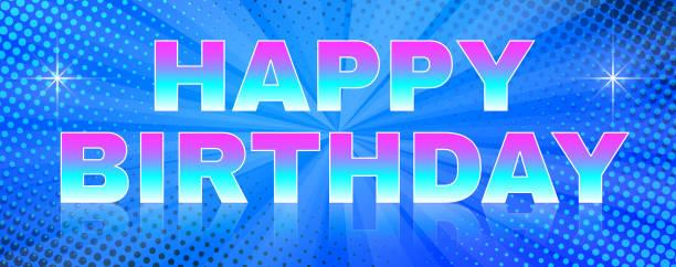 Hellen Banner-alles Gute zum Geburtstag-Thema – Vektorgrafik