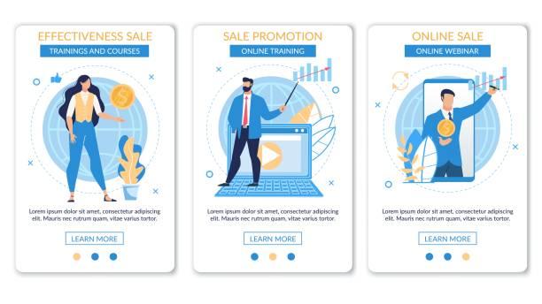 parlak banner yazıt seti etkinliği satış. - sale stock illustrations