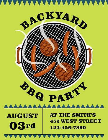 Bright BBQ Party Invitation Template