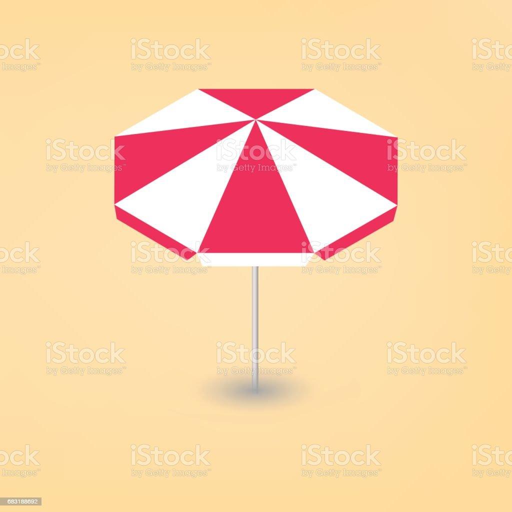 陽光明媚的海灘傘 3D,向量圖。 免版稅 陽光明媚的海灘傘 3d向量圖 向量插圖及更多 休息 圖片