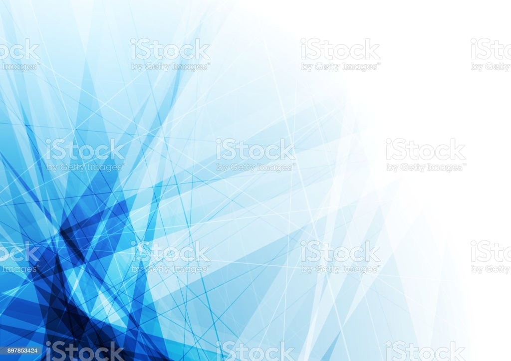 Bright blue geometric shapes tech background vector art illustration