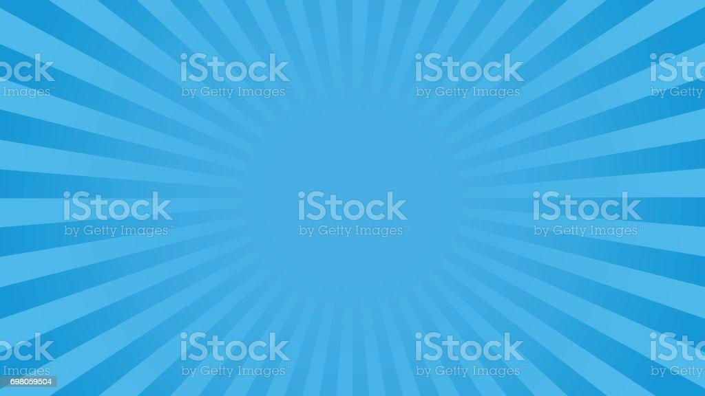 Achtergrond van de heldere blauwe stralenvectorkunst illustratie