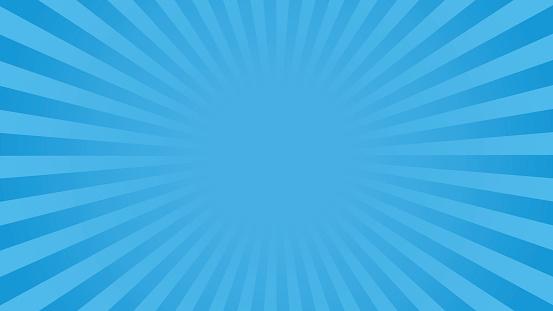 Fond De Rayons Bleus Lumineux Vecteurs libres de droits et plus d'images vectorielles de Abstrait