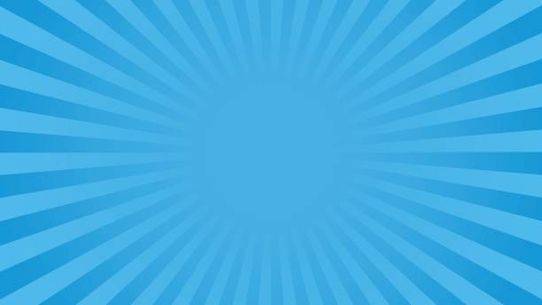Bright blue rays background vector art illustration
