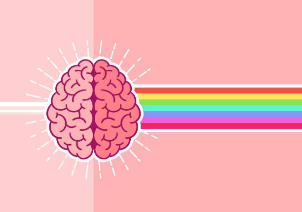 ilustraciones, imágenes clip art, dibujos animados e iconos de stock de brillante cerebro - brain