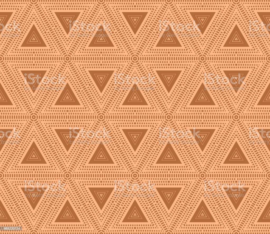 明るいレンガ色の三角形の背景ベクトル イラストデザイン