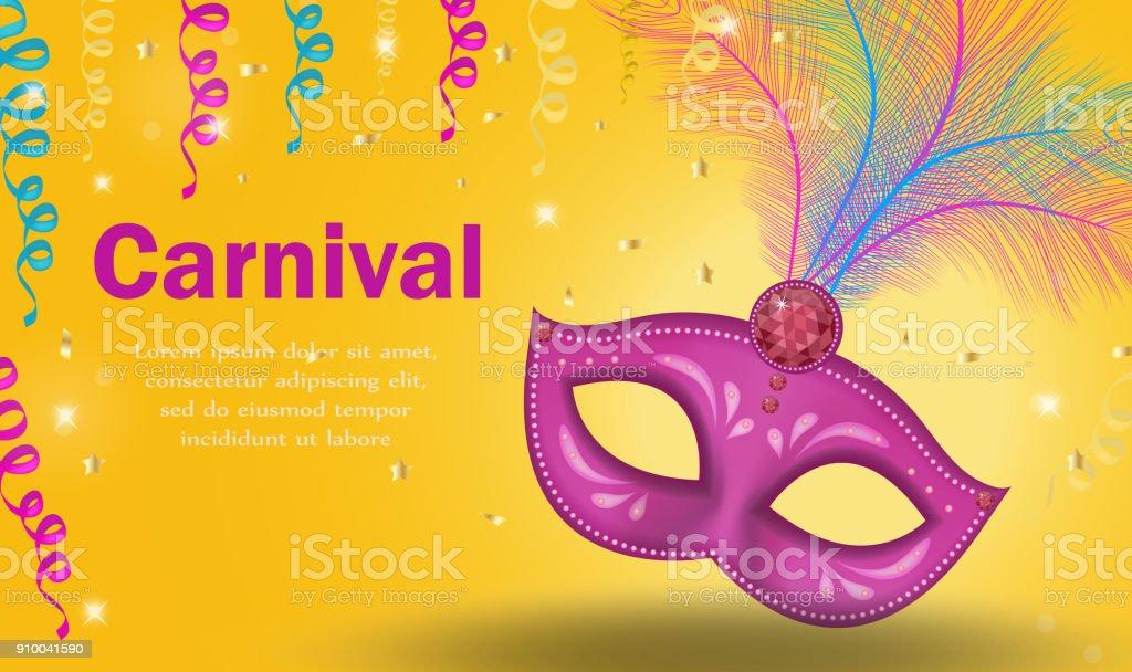 Ilustração De Cartaz Carnaval Brilhante Convite Cartão De