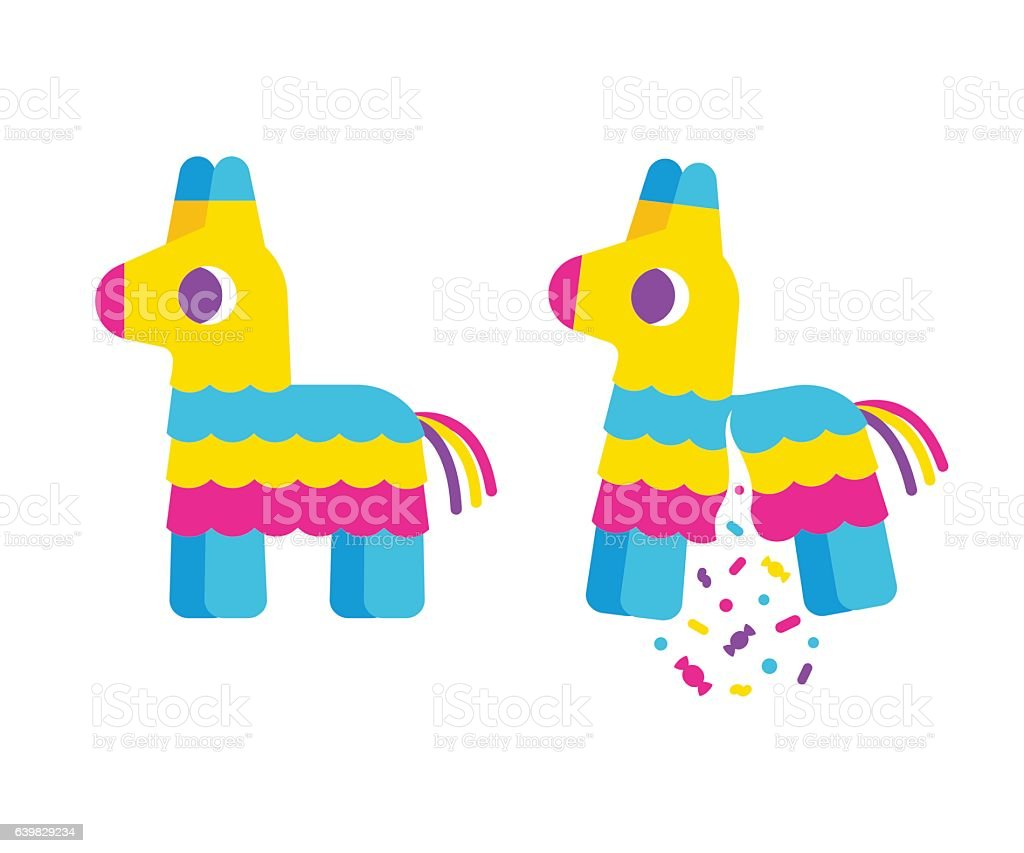 bright cartoon pinata stock vector art 639829234 istock
