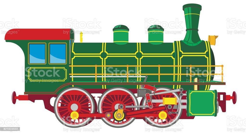 Ilustración de Locomotora De Vapor Brillante Dibujos Animados y más ...