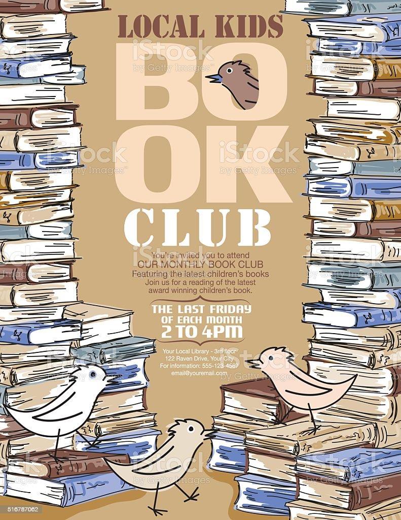 Helle Buchclub Für Kinder Postervorlage Stock Vektor Art und mehr ...