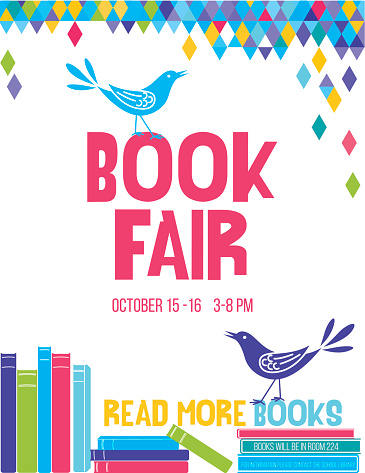 Bright Children's Book Fair Poster Template