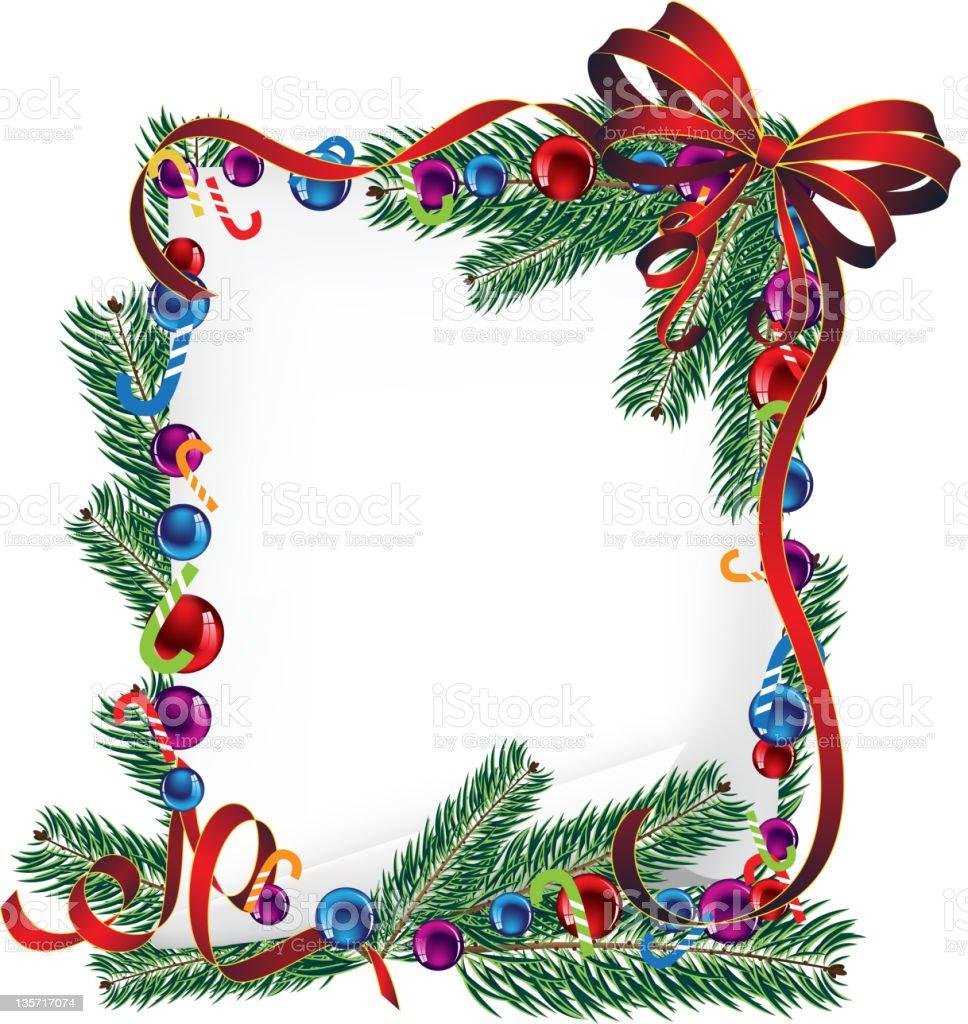 Bright Christmas poster royalty-free stock vector art