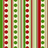 Bright christmas seamless pattern. Background polka dots, stripes.Eps10.