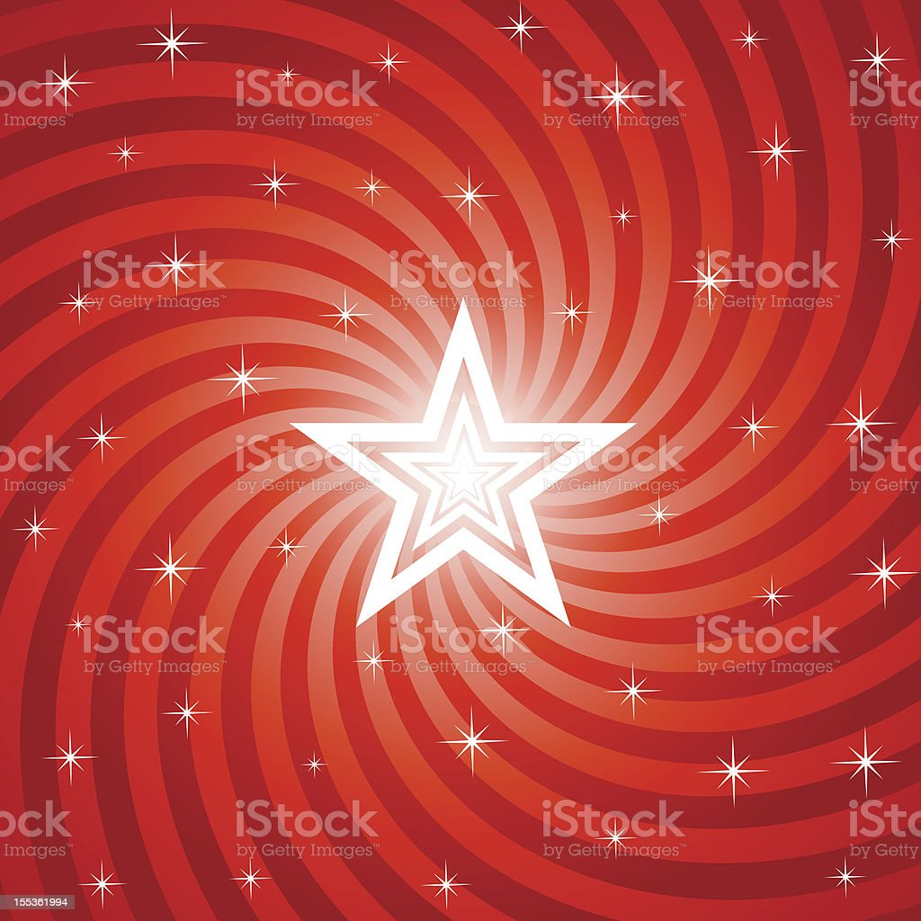 Bright Christmas Star Background royalty-free stock vector art