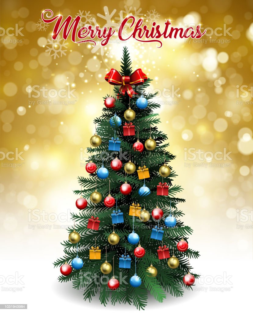 National Christmas Tree 2019.Bright Christmas Tree Card Stock Vector Art More Images Of