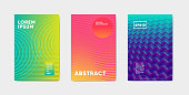 Bright color abstract pattern background with line gradient texture for minimal cover design