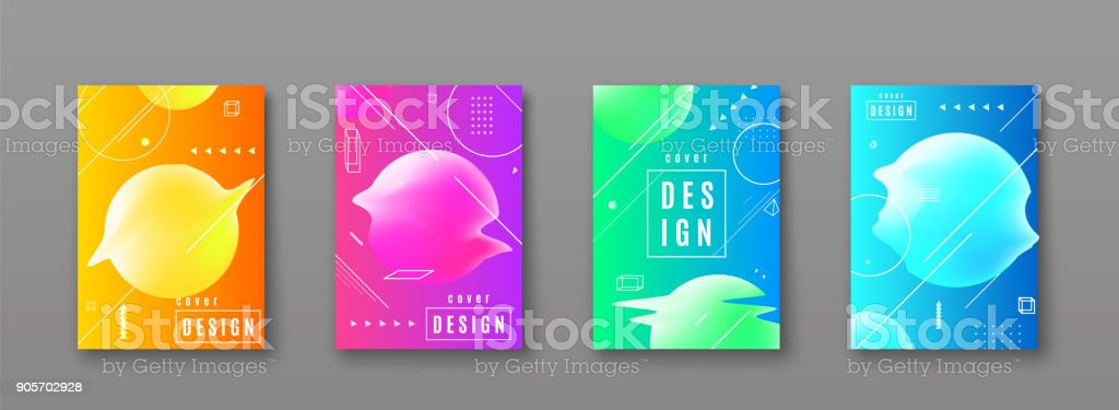 Bright color abstract pattern background with line gradient texture vector art illustration