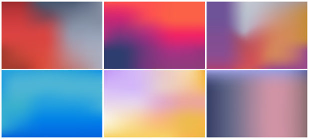 Bright color background with mesh gradient texture for minimal dynamic cover design. Blue, pink, red, yellow. Vector illustration for your graphic design, banner, summer or aqua poster