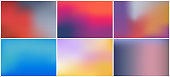 istock Bright color background with mesh gradient texture for minimal dynamic cover design. Blue, pink, red, yellow. Vector illustration for your graphic design, banner, summer or aqua poster 1264855862