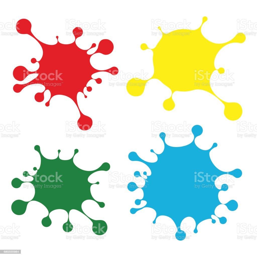 bright color blobs vector art illustration